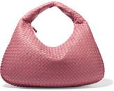 Bottega Veneta Veneta Large Intrecciato Leather Shoulder Bag - Pink