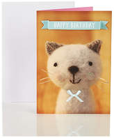 Marks and Spencer Woolly Cat Happy Birthday Card