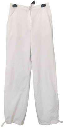 Trussardi White Trousers for Women Vintage