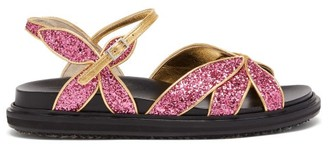 Marni Glitter-strap Butterfly Sandals - Womens - Pink