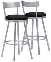 Monarch Swivel Stool Silver Barstool Set