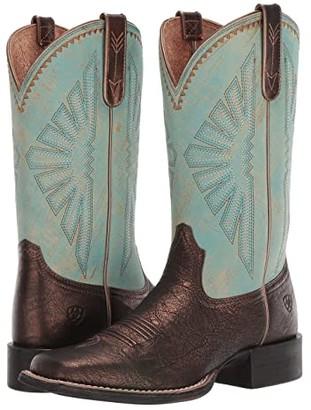 Ariat Round Up Rio (Dark Bronze/Jade) Cowboy Boots