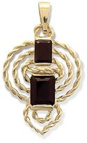 Tatitoto Gioie Women's Pendant in 18k Gold with Garnet, 5.6 Grams
