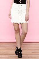 Hayden White Denim Skirt