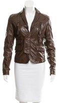 DSQUARED2 Notch-Lapel Leather Jacket