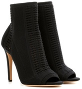 Gianvito Rossi Vires knitted peep-toe ankle boots