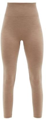 Ernest Leoty Eleonore High-rise Wool-blend Thermal Leggings - Dark Beige
