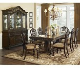 Homelegance Upholstered Queen Anne Back Side Chair in brown (Set of 2