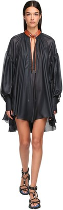 Sportmax Cinzato Chiffon Mini Dress