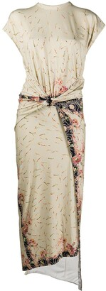 Paco Rabanne Print Wrap Tie Dress