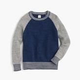 J.Crew Boys' crewneck baseball sweater