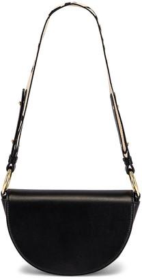 Stella McCartney Mini Leather Flap Shoulder Bag in Black | FWRD