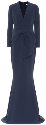 Safiyaa Stretch-crepe gown