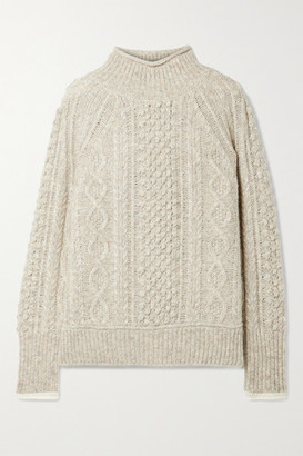 Alex Mill Camil Cable-knit Melange Wool-blend Sweater