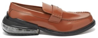 Maison Margiela Airbag Heel Leather Loafers - Mens - Brown