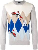 Ballantyne fish intarsia jumper - men - Cotton/Cashmere - 48