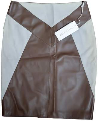 Valentino \N Brown Leather Skirts