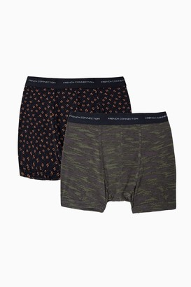 French Connection 2 Pack Haku Print Boxer