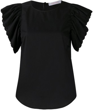 See by Chloe ruffled sleeves T-shirt
