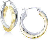Giani Bernini Two-Tone Twist Hoop Earrings, Only at Macy's