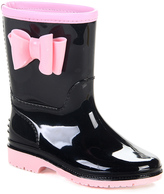 Jelly Beans Black & Pink Agreeable Rain Boot