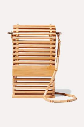 Cult Gaia Sylva Bamboo Shoulder Bag - Beige