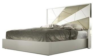London King Platform Bed Hispania Home Color: Matte