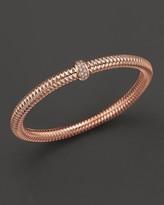 Roberto Coin 18K Rose Gold Primavera Diamond Stretch Bracelet