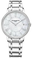 Baume & Mercier Classima 10227 Diamond, Mother-Of-Pearl & Stainless Steel Bracelet Watch