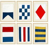 Pottery Barn Framed Nautical Flags
