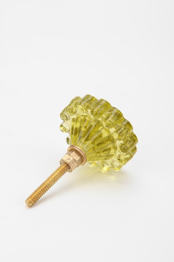 Urban Outfitters Pressed Flower Glass Knob