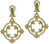Judith Ripka 14K Gold & Diamond Earrings