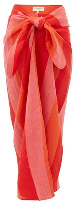 Mara Hoffman Izzi Striped Linen Sarong - Red Stripe