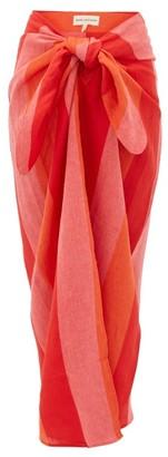 Mara Hoffman Izzi Striped Linen Sarong - Womens - Red Stripe