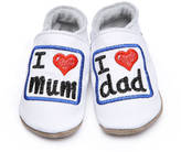 Starchild shoes Leather Baby Shoes I Love Mum And Dad White