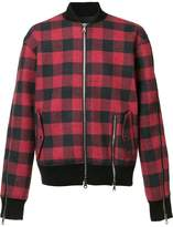 Mostly Heard Rarely Seen plaid bomber jacket