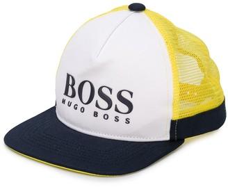 Boss Kids Panelled Logo Cap