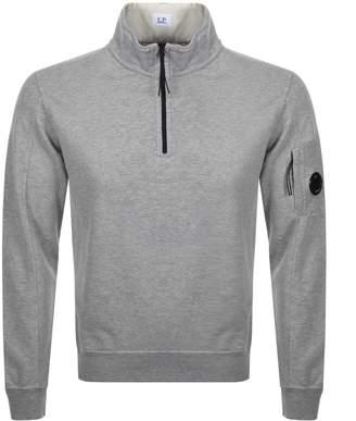 C.P. Company C P Company Goggle Half Zip Sweatshirt Grey
