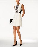 Rachel Roy Lace Fit & Flare Dress