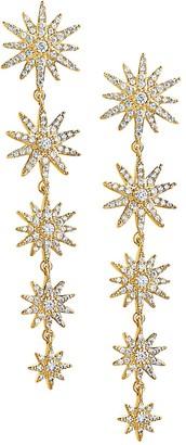 Sterling Forever Crystal Burst Dangle Earrings
