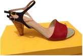 Fendi Red Leather Sandals