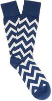 Paul Smith - Chevron-patterned Cotton-blend Socks
