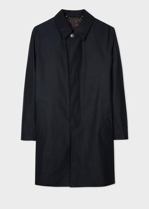 Paul Smith Men's Dark Navy Water-Resistant Cotton Mac