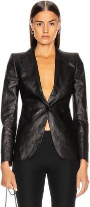 Alexander McQueen One Button Jacket in Black | FWRD