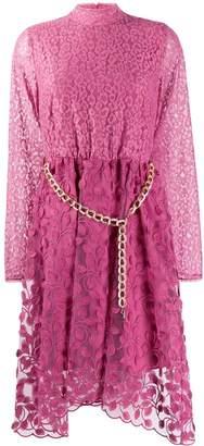 Just Cavalli belted midi dress
