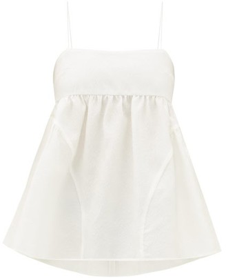 Cecilie Bahnsen - Emilia Empire-waist Rose-jacquard Top - Womens - White