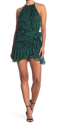 Do & Be Ruched Floral Halter Dress