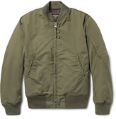 Engineered Garments Cotton-blend Ripstop Bomber Jacket - Army green