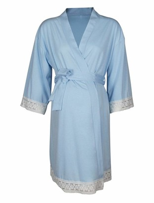 PIERRE NOIR Nightgowns Maternity Pregnancy Robe for Hospital Nursing Night Gown Delivery Dress