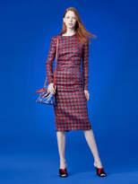 Diane von Furstenberg Long-Sleeve Crew Neck Tailored Dress